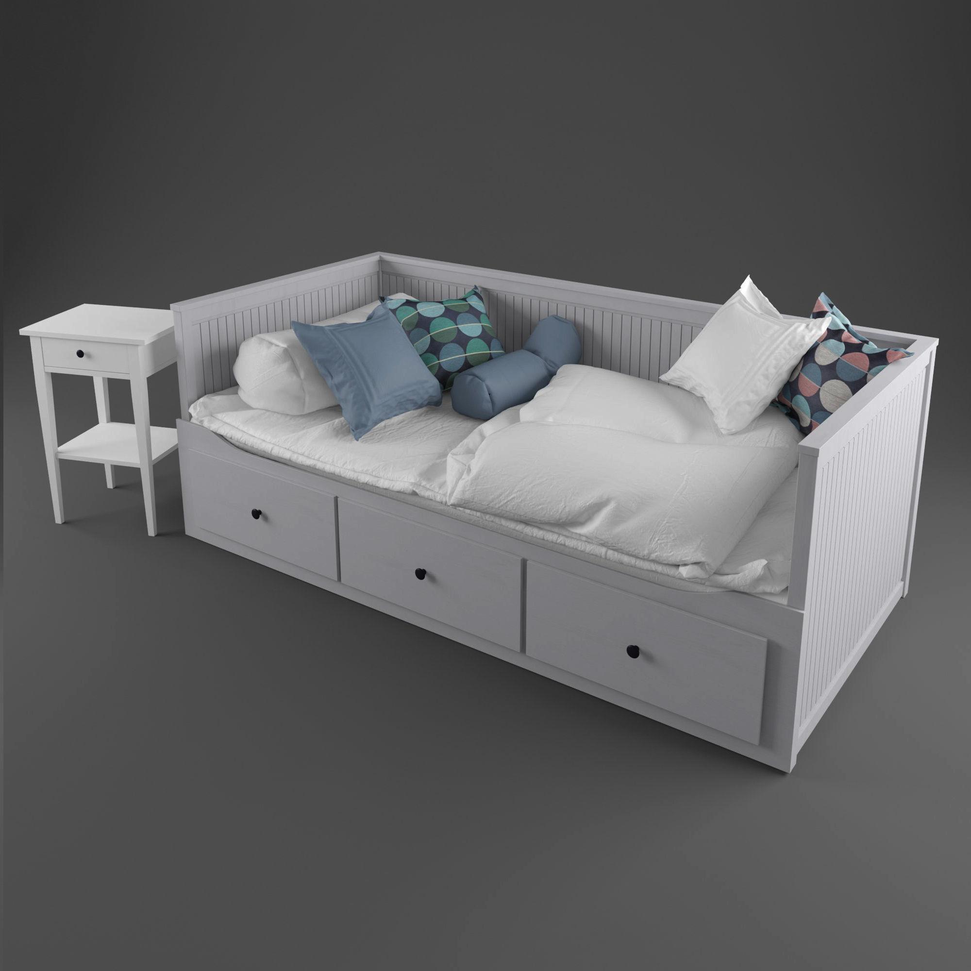 Ikea Hemnes Bedbank.Carpet Ikea Hemnes Bed 2 3d Model Cgtrader