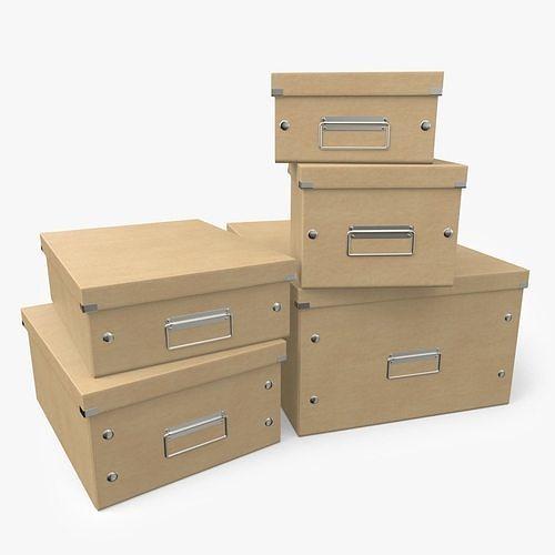 office boxes 3d model obj mtl fbx c4d 1