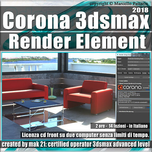 corona 1 6 in 3dsmax 2018 render element vol 5 cd front 3d model max pdf 1