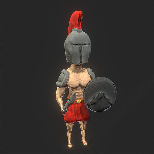 spartan warrior 3d model fbx 1