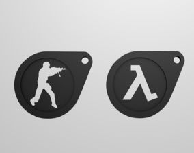 3D printable model Keychain game logo