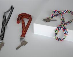 key with keychain 3d