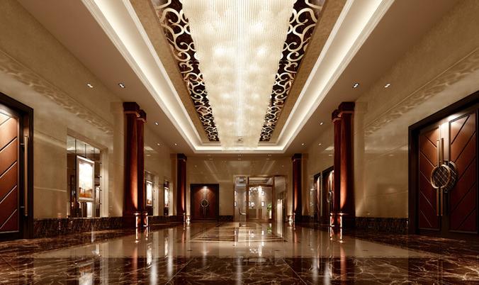 Modern Hotel Lobby 3d modern hotel hall lobby | cgtrader