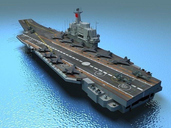 liaoning aircraft carrier 3d model max obj mtl 3ds fbx tga 1