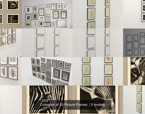 painting Collection of 50 Picture Frames 3D model