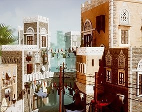 3D asset UE4 Low Poly Middle East City Pack