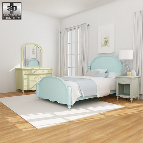 3d Asset Bedroom Furniture 19 Set Cgtrader