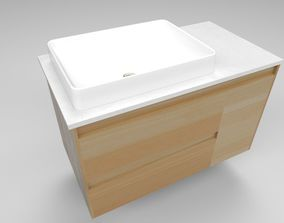 Bathroom Vanity and Sink Combo 3D asset game-ready