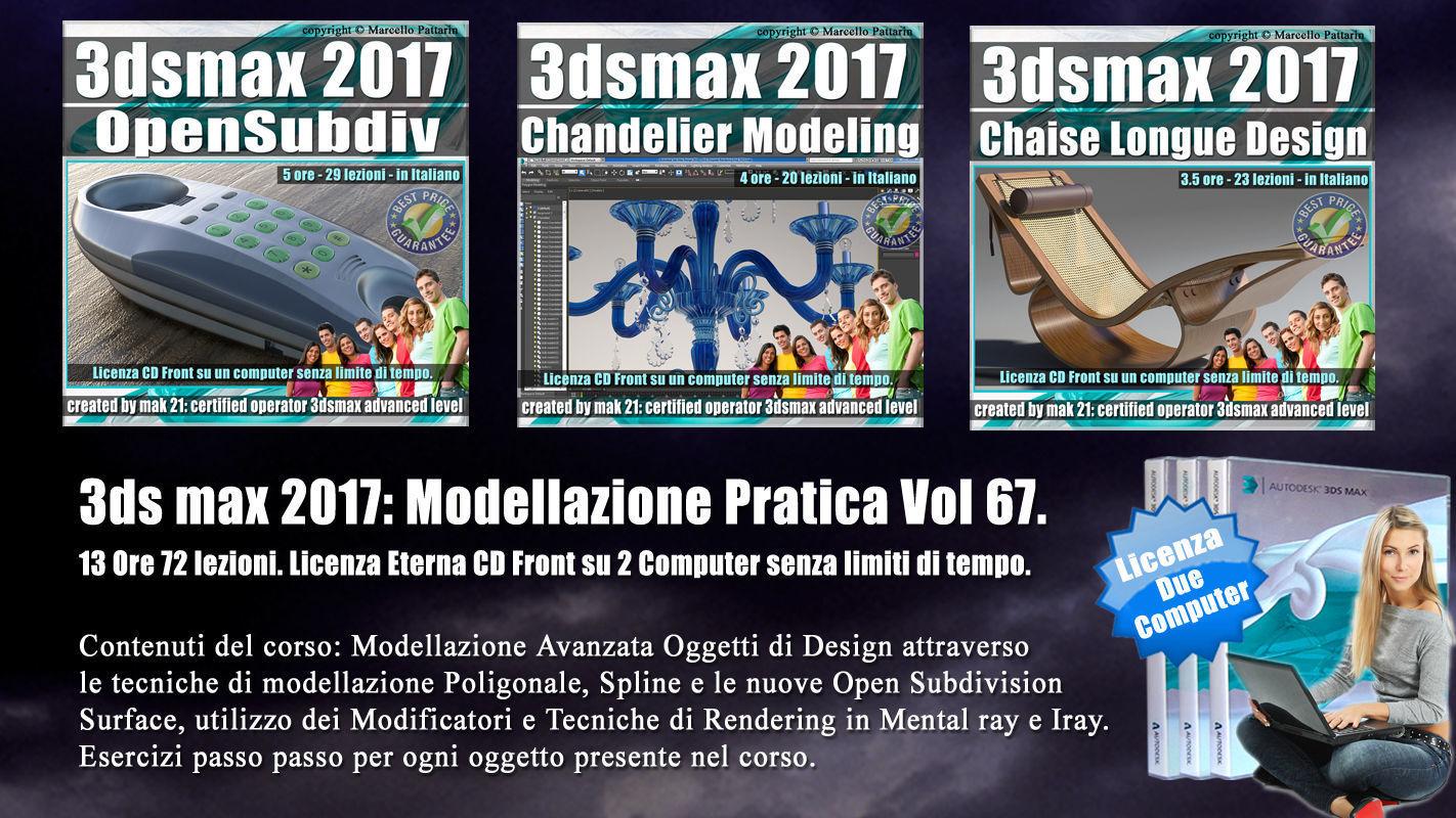 3ds max 2017 Modellazione Pratica Cd Front Vol 67