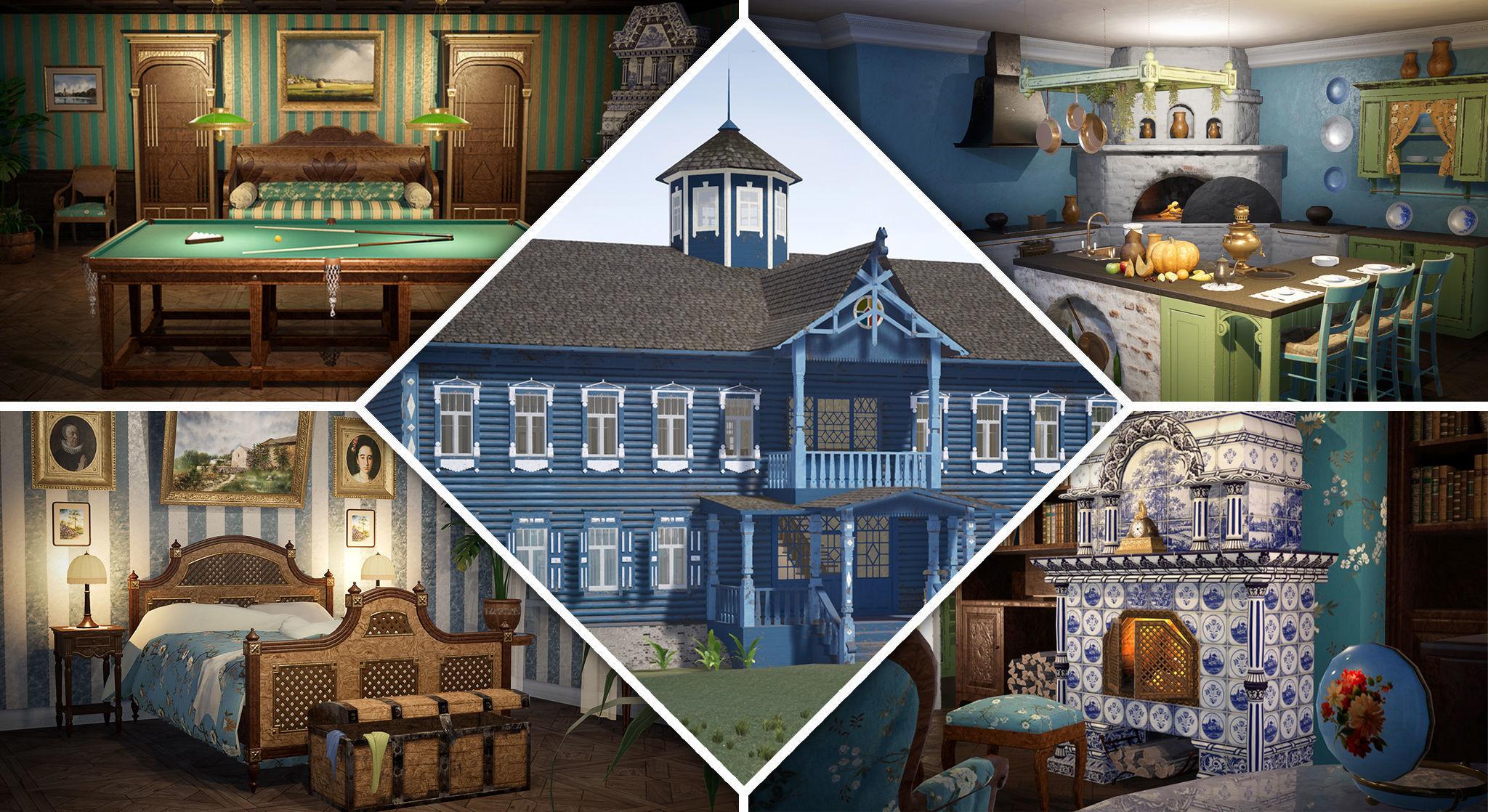 Russian Estate House Unreal Engine 4 | 3D model