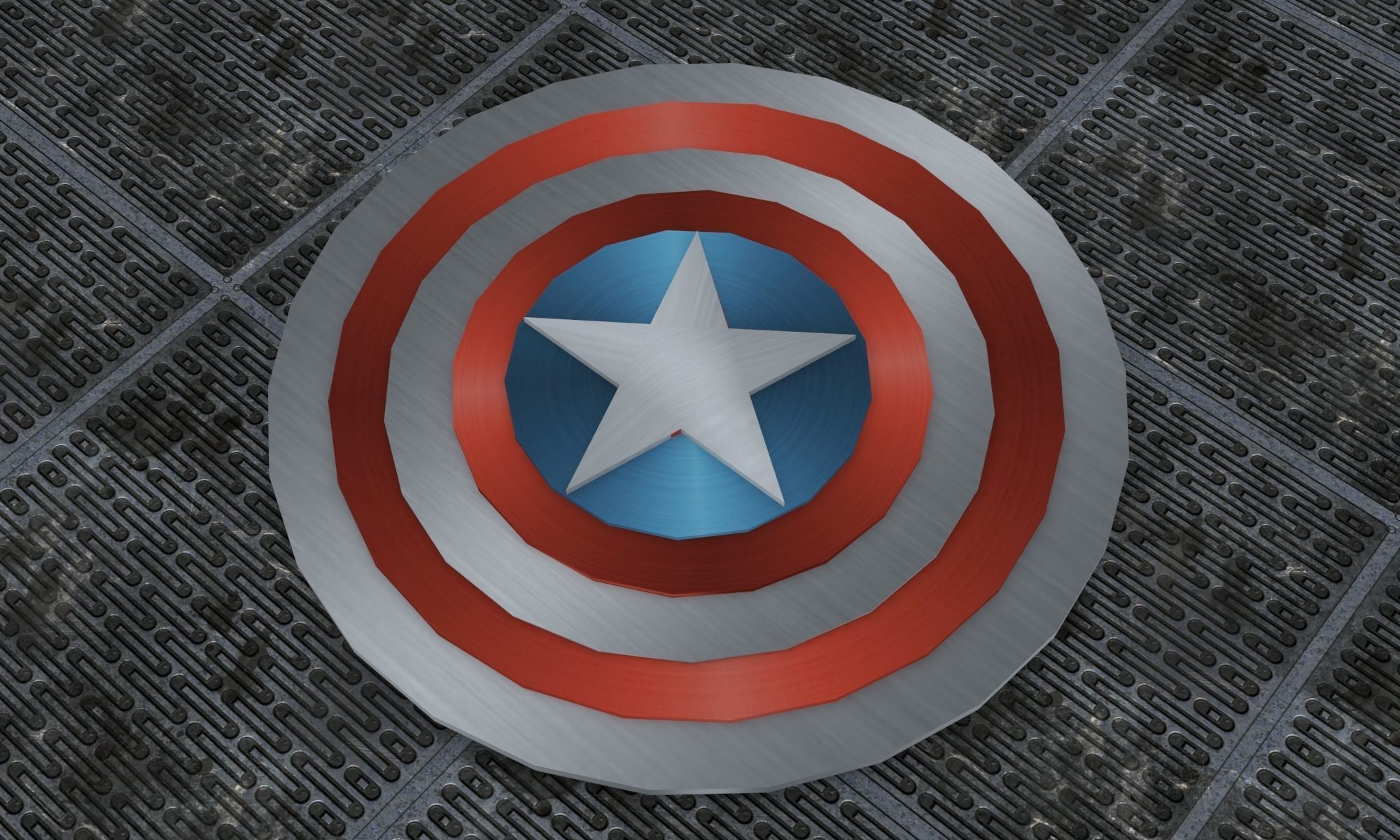 picture regarding Captain America Shield Printable identified as Captain Americas Safeguard 3D Print Type