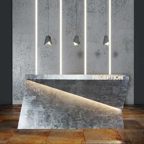 reception beton  3d model max obj mtl fbx 1