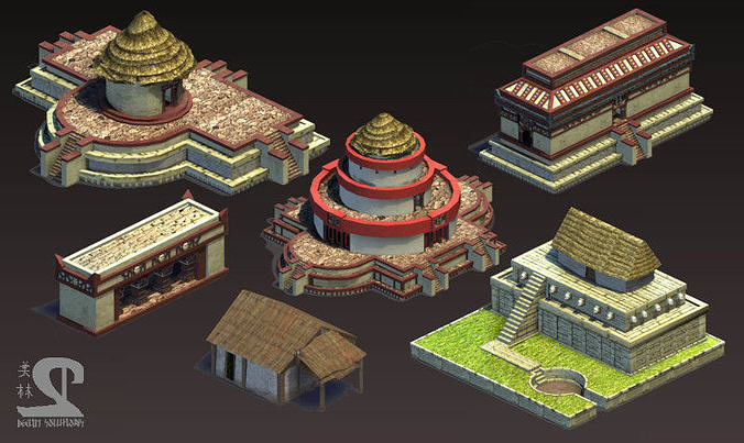 Aztec and pre-Columbian buildings and monuments