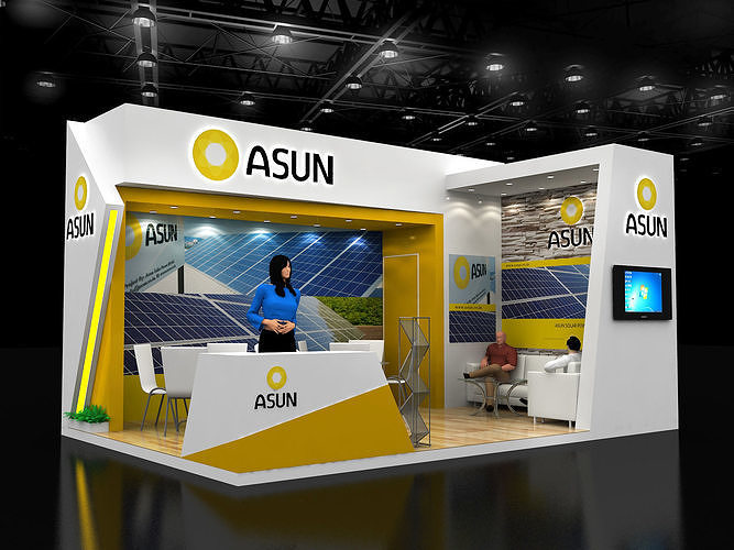4x6mtr exhibition stand 3d model max 1
