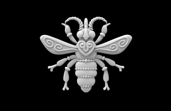 bee insect 3d model max obj mtl stl 1