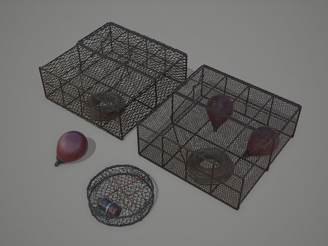 Crab and Lobster Traps - PBR and Game Ready