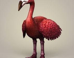 Flamingo Bird 3D asset low-poly
