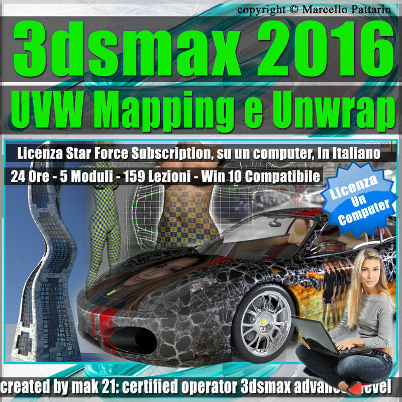 3ds max 2016 UVW Mapping e Unwrap Locked Subscription