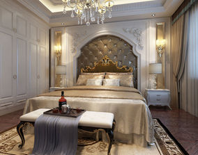 3D model Bedroom Interior Scene 03