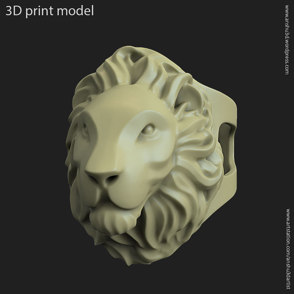 Lion vol2 ring for 3d printing