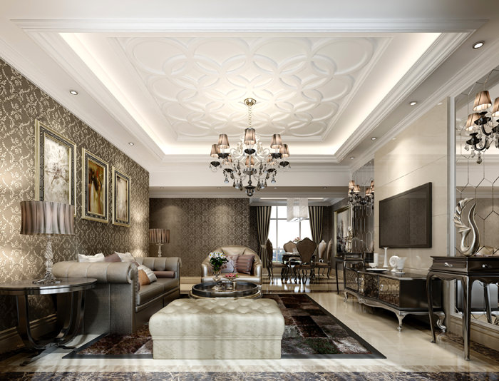 Living Room Models luxury living room with plasma tv 3d model | cgtrader