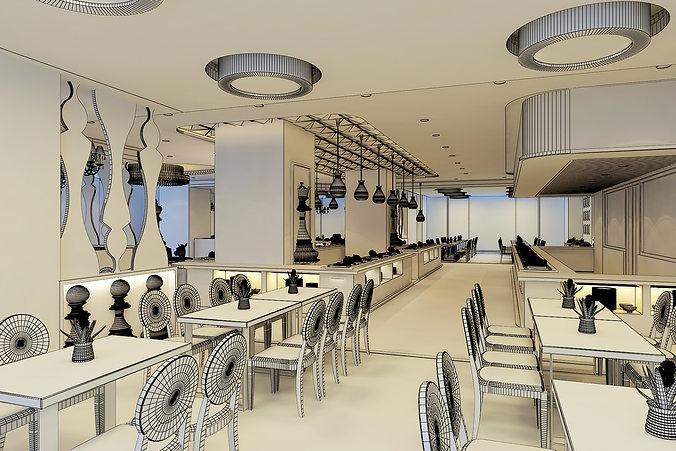 D models chess restaurant model max fbx cgtrader