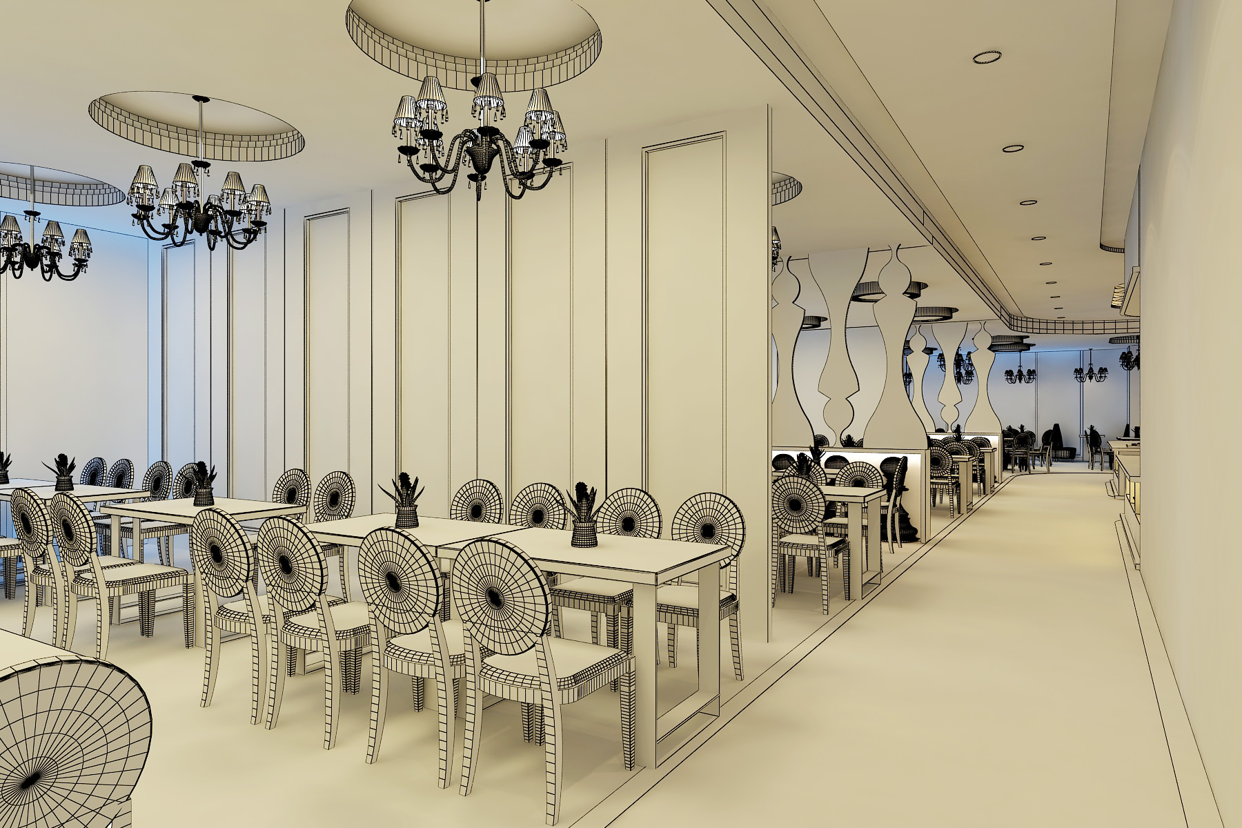 3d Models Chess Restaurant 3d Model Max Fbx