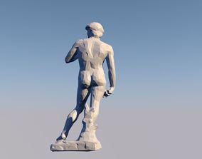David 3D Statue Sculpture Model Low Poly 2019