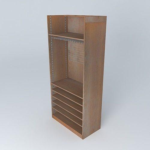 the shelf rack store maisons du monde 3d model max obj 3ds fbx stl dae 1