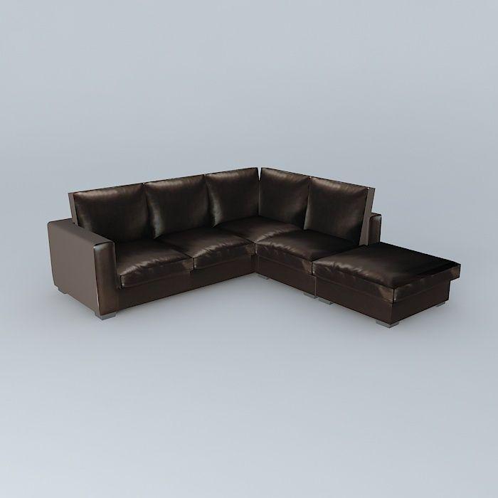 Split Leather Sofa 5 Pl Kennedy Houses The World Model Max Obj S Fbx Stl