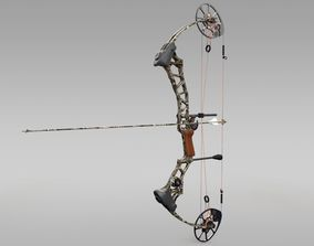 3D Compound Bow with Arrow