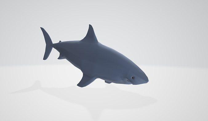 shark 3d model low-poly fbx 1