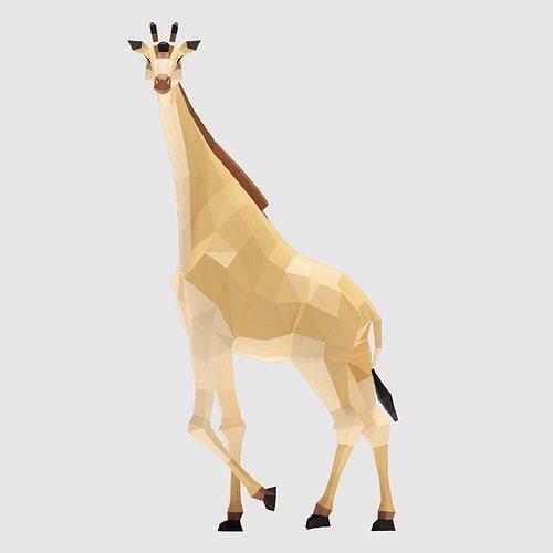 giraffe 3d model obj mtl 3ds fbx blend dae 1