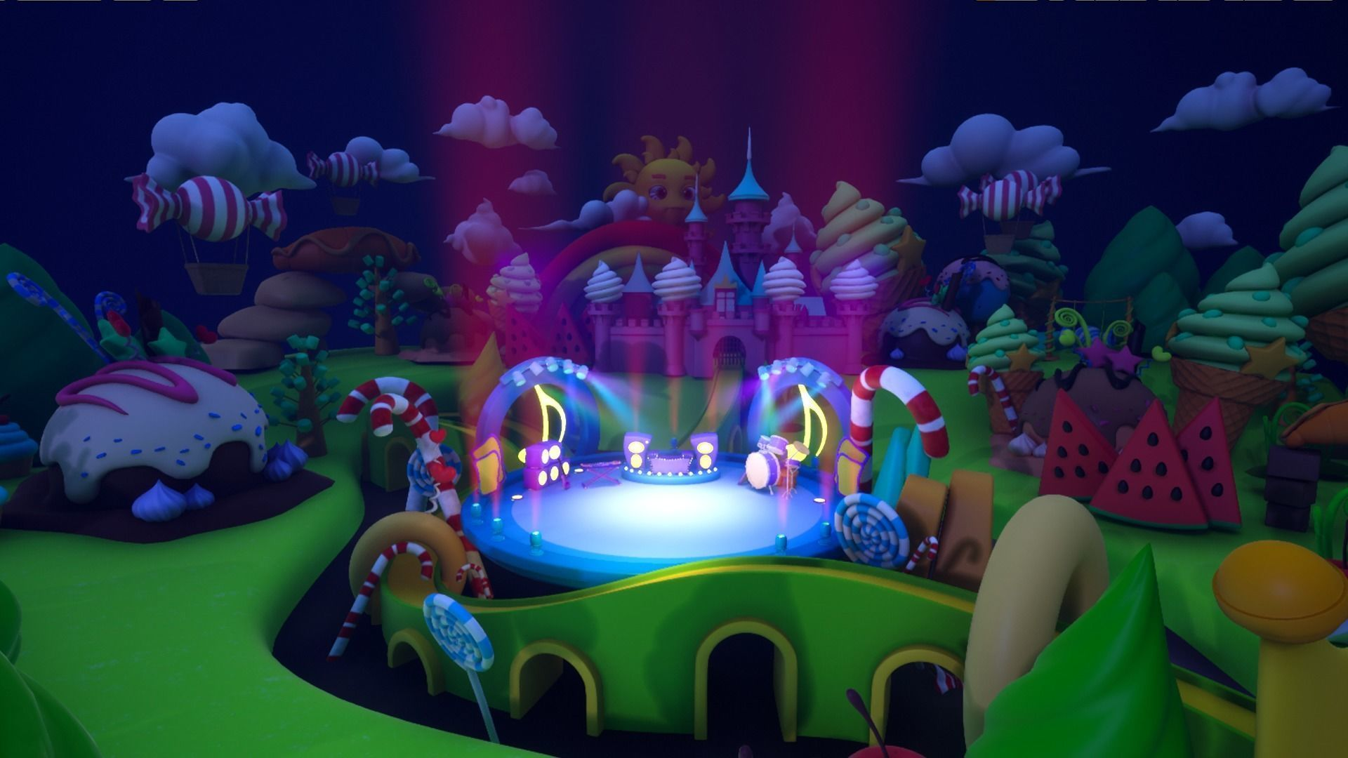 Asset UE4 - Cartoons - Background - Stage- Hight Poly