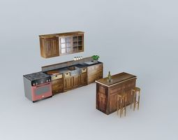 3d luberon the kitchen and the bar bistro world houses