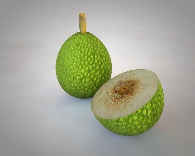 breadfruit 3d model low-poly obj mtl 3ds fbx c4d stl dae 1