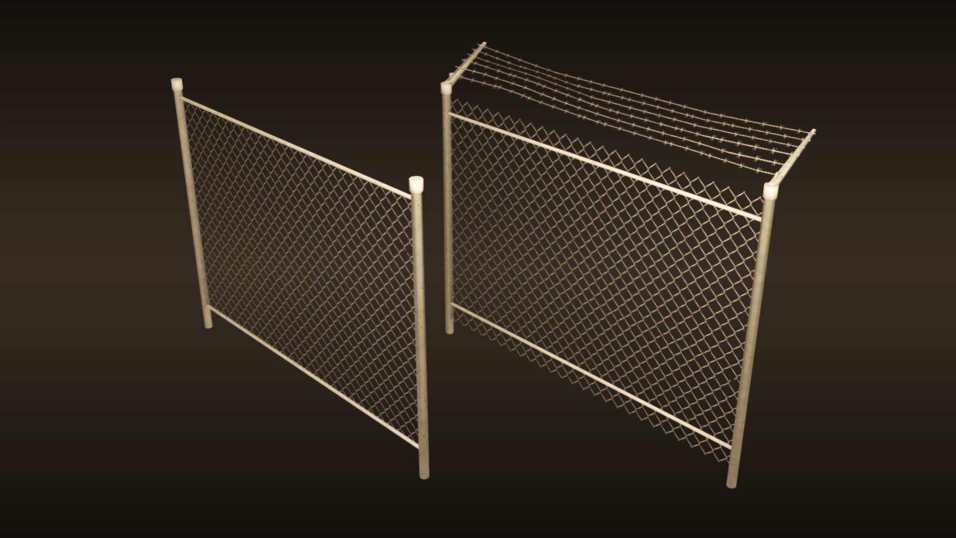 A chain-link fences set