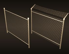 3D model A chain-link fences set