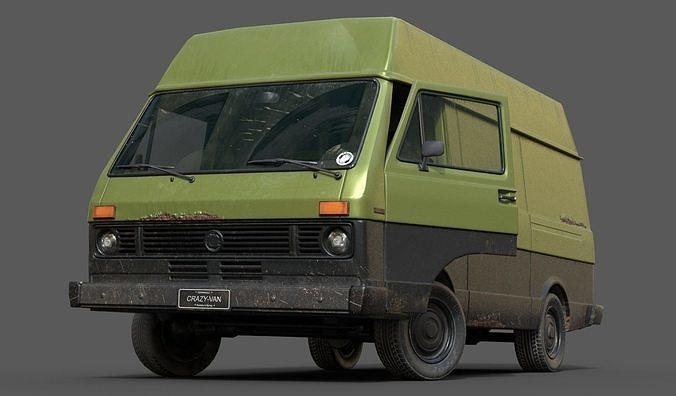 vw van lt volkswagen lowpoly 3d model max obj mtl fbx 1