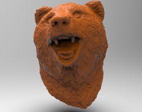 Bear head detailed scanned model replicas