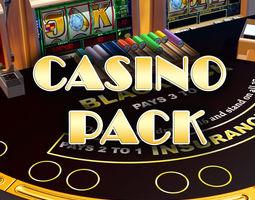 casino pack 3d model VR / AR ready