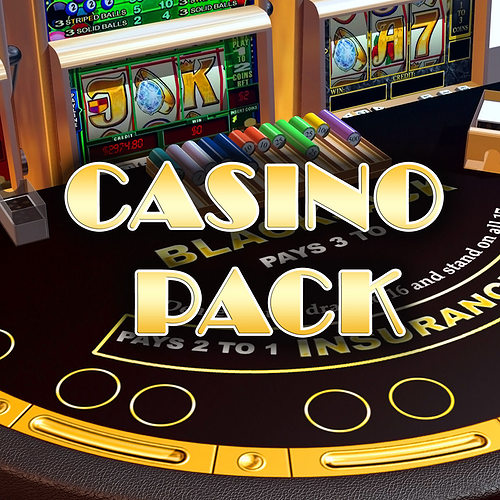 casino pack 3d model low-poly max fbx tga unitypackage 1