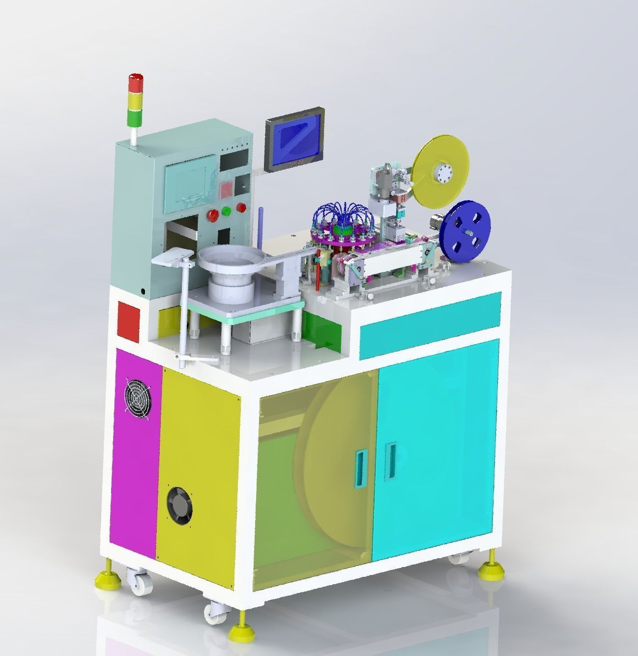 Small product packaging machine