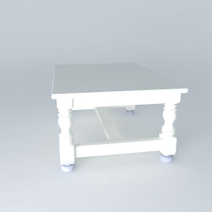 Coffee table free 3d model max obj 3ds fbx stl dae for Table 430 52