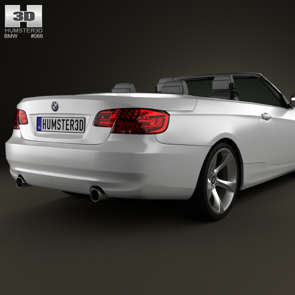 3D Model BMW 3 Series Convertible With HQ Interior 2011 VR