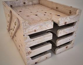 3D model Wooden Desk Tray