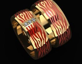 enamel Enamel and Diamonds Ring 3D printable model