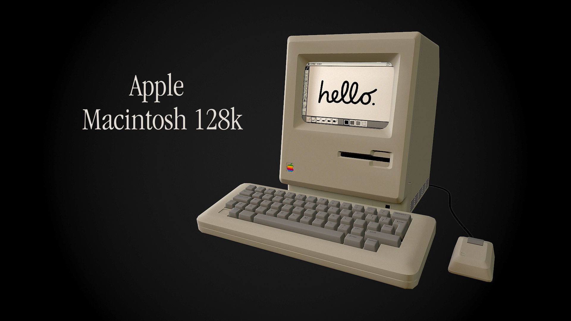 Apple Macintosh 128k retro computer