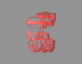 3D print model Cars Rayo MacQueen and Mate Cookie Cutter