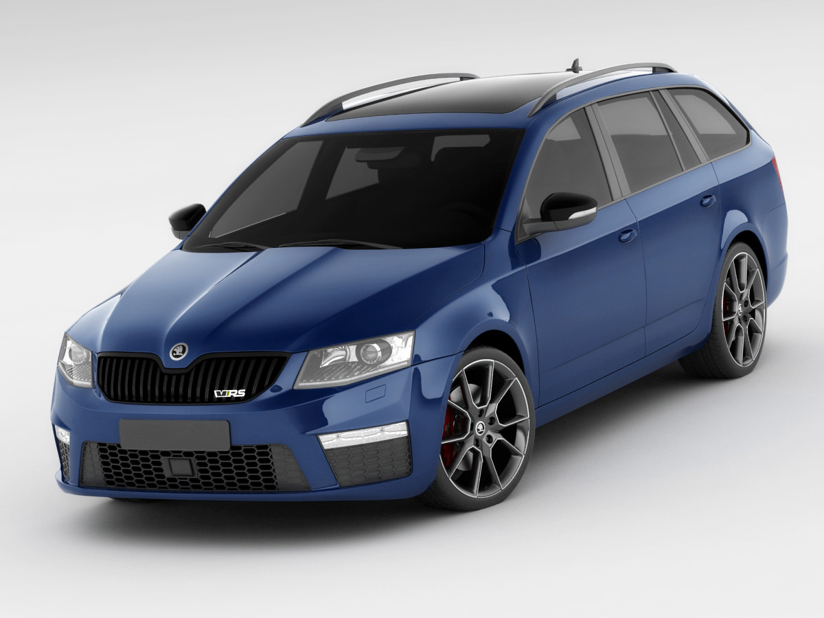 skoda octavia combi rs 3d model max obj 3ds fbx c4d lwo lw. Black Bedroom Furniture Sets. Home Design Ideas